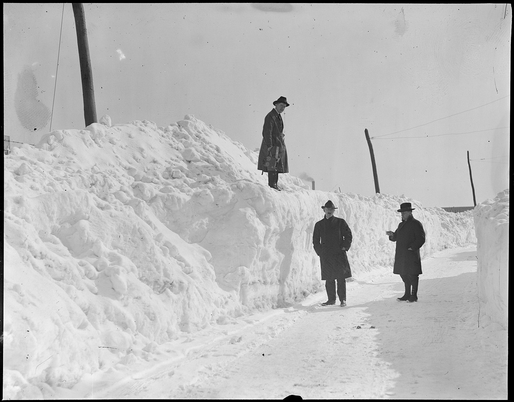 Blizzard in Boston, 1920 Courtesy of the Boston Public Library, Leslie Jones Collection.